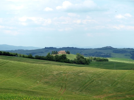 valdorcia: The landscape of the Val. Tuscany. Italy