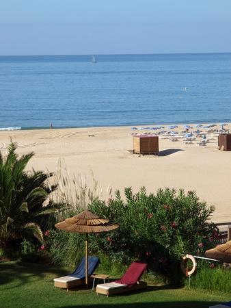 rocha: Portimao - the beach of Praia de Rocha Stock Photo