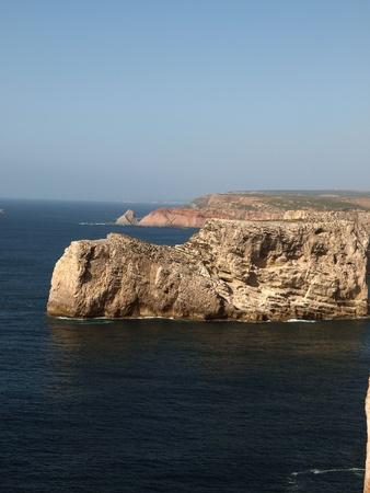 Monumentale klif kust bij Cape St Vincent, Portugal