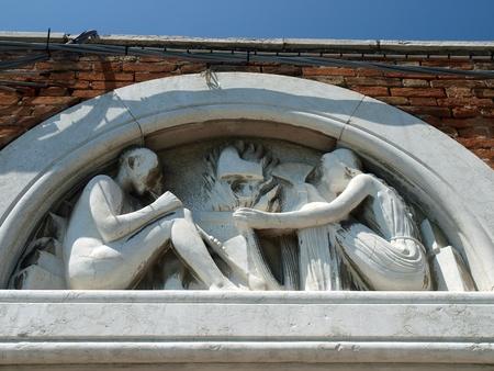murano: Venice - a wonderful architectural detail in Murano