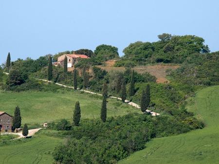 montalcino: The landscape of the Val dOrcia. Tuscany. Italiy Stock Photo