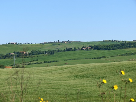orcia: The landscape of the Val d'Orcia. Tuscany. Italiy Stock Photo
