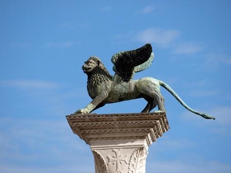 chimera: Chimera Sculpture on the Piazetta - Venice Stock Photo