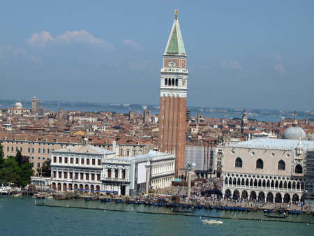 Venice - St. Marks Square as seen from the tower of the church of San Giorgio Magiore photo