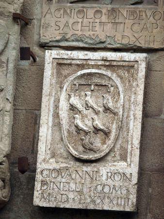 priori: Arezzo - stemma sulla facciata del Palazzo dei Priori Editoriali
