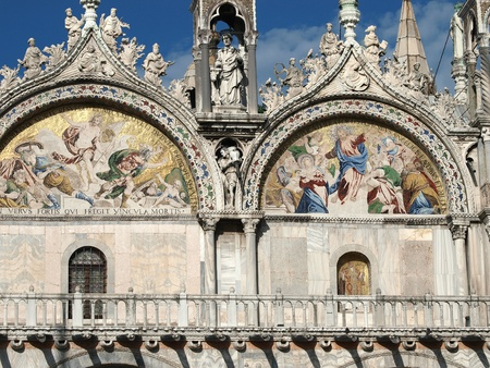 parable: Venice - The basilica St Marks. Mosaic from upper facade