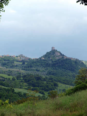 The landscape of the Val d�Orcia. Tuscany. Italiy Stock Photo - 12613875