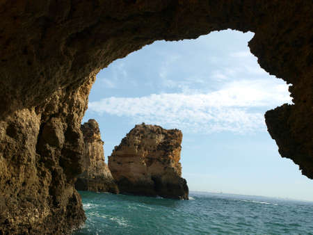 Picturesque Algarve coast between Lagos and the Cap Vincent photo
