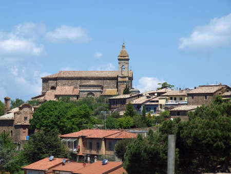 agriturismo: Medieval Town In Montalcino Tuscany, Italy Editorial