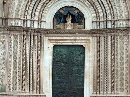 main gate: Main west portal - Orvieto Cathedral . Orvieto,Umbria, Italy