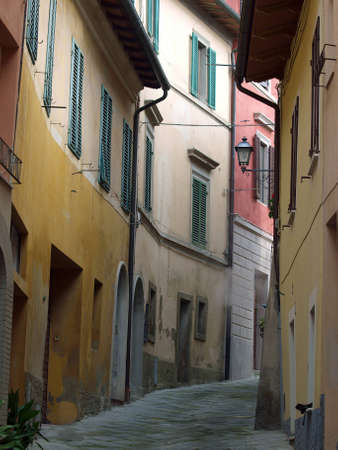 etruscan: morning in the Tuscan town. Chiusi - one of the most ancient Etruscan towns in Tuscany, Italy