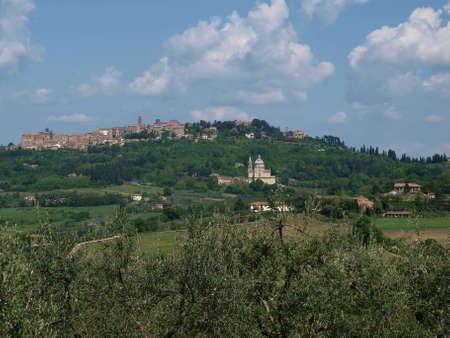 montepulciano: Panoramic View Of Montepulciano ,Tuscany, Italy. Editorial