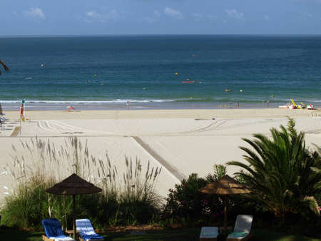 rocha:  Beach of Praia da Rocha in Portimao, Algarve, Portugal Editorial
