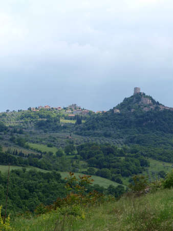 val dorcia: The landscape of the Val d�Orcia. Tuscany. Italiy Stock Photo
