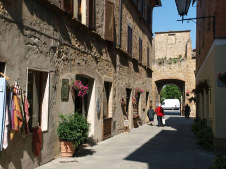 utopian: Pienza - a city with a delicious cheese and  a rare example of Renaissance town design.