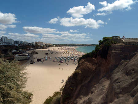 vilamoura: One of the most beautiful beaches in Europe - Praia da Rocha on the Algarve in Portugal