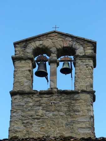 archtecture: The belfry of the church of Saint Christopher in Cortona Stock Photo