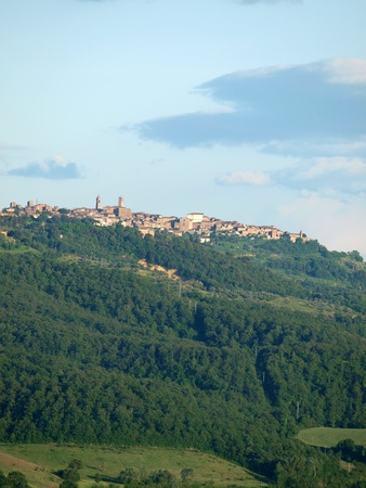 montepulciano: The beautiful landscape of Tuscany. View of the hills between Montepulciano and Chiusi