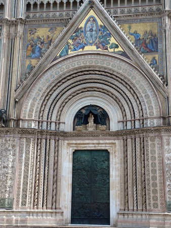 Main west portal - Orvieto Cathedral . Orvieto,Umbria, Italy photo