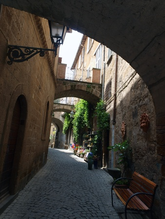 agriturismo: picturesque architecture of the old town of Orvieto, Umbria, Italy