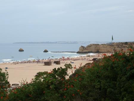 vilamoura:  Beach of Praia da Rocha in Portimao, Algarve, Portugal Editorial
