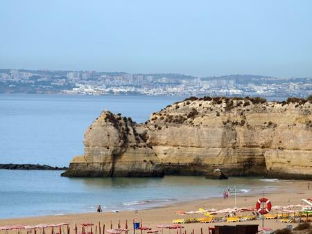 rocha:  Beach of Praia da Rocha in Portimao, Algarve, Portugal Stock Photo