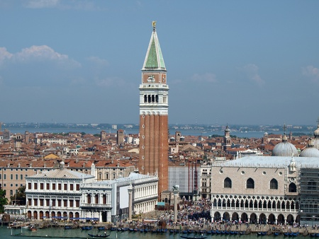Venice - St. Mark's Square as seen from the San Macro Canal Stock Photo - 12768818