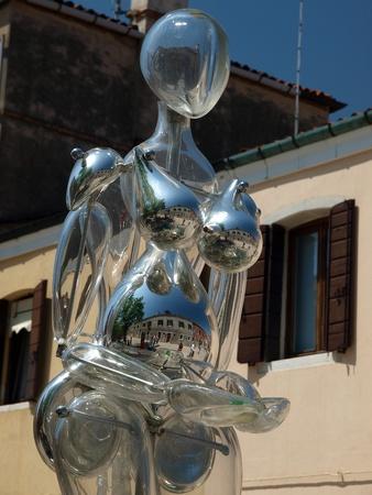 garibaldi: Garibaldi street near vaporetto station at Murano Island, Italy  Editorial