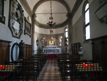 murano: Venice - st. Peters church from Murano island - interior