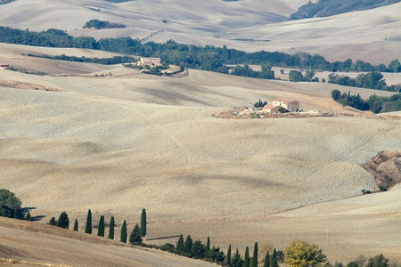 valdorcia: The landscape of the  Tuscany  Italy Stock Photo