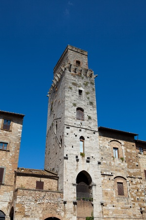 San Gimignano-  small walled medieval hill town in the Tuscany photo