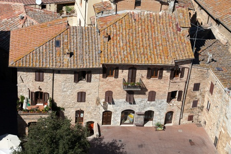 Tuscan village San Gimignano view from the tower Stock Photo - 13137081