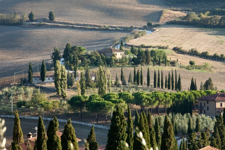 The landscape of the  Tuscany. Italy Stock Photo - 13137068