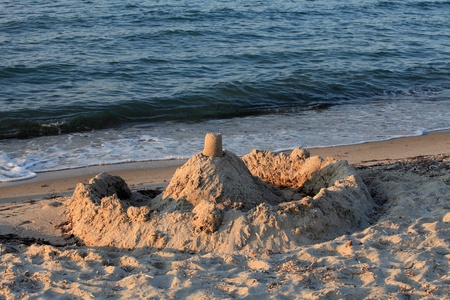 sandcastles: Sand castle on the beach