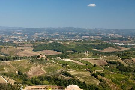 Hills around San Gimignano. Tuscany photo