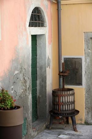 Riomaggiore - one of the cities of Cinque Terre in italy photo