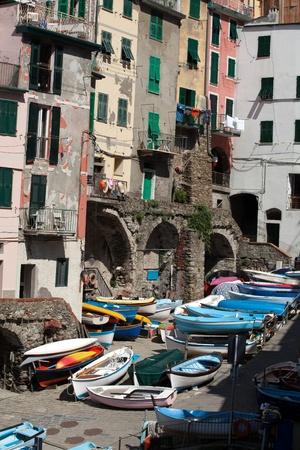 Riomaggiore - one of the cities of Cinque Terre in italy Stock Photo - 13282696