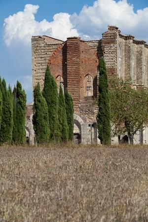 Abbey of San Galgano, Tuscany, Italy photo