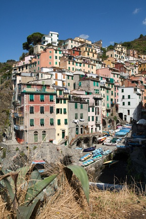 Riomaggiore - one of the cities of Cinque Terre in italy photo