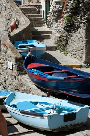 The Fishing Boats in Cinque Terre Italy photo
