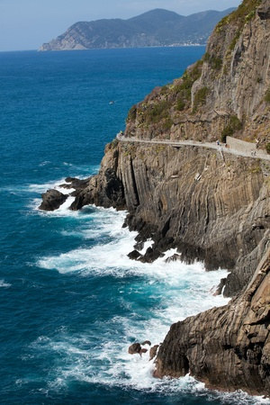 beautiful coastline in Cinque Terre, Liguria, Italy photo
