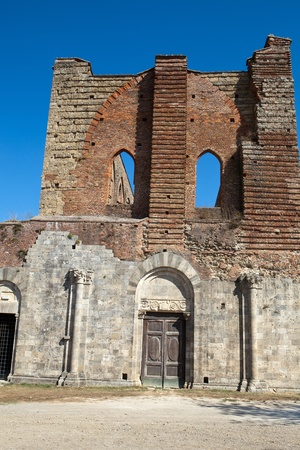 The Facade of the Abbey of San Galgano, Tuscany, photo
