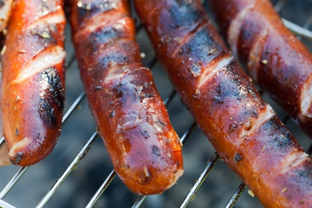 barbecue with delicious grilled meat on grill Stock Photo - 13549807
