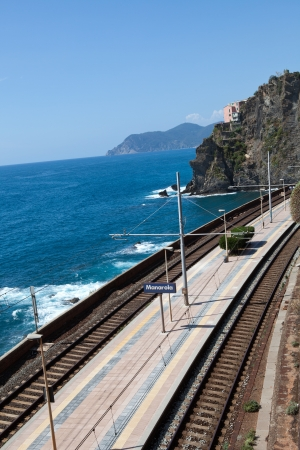 railway station of Manarola in Cinque Terre photo