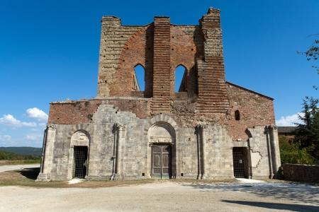 The Facade of the Abbey of San Galgano, Tuscany, photo