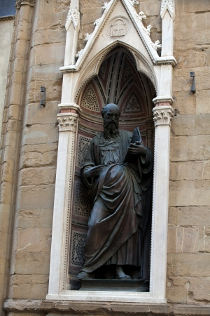 Florence - Church of Orsanmichele. St. John the Evangelist photo