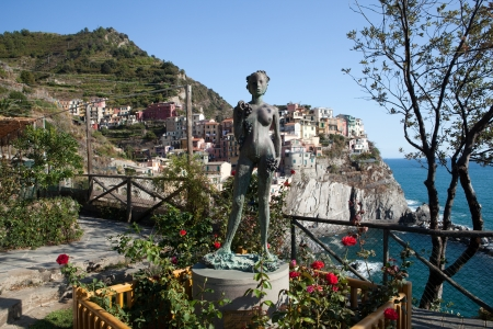 Manarola - one of the cities of Cinque Terre in italy photo