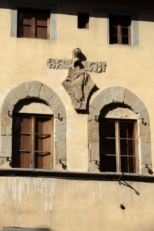 Florence - architectural detail from the building in the vicinity Orsanmichele. photo