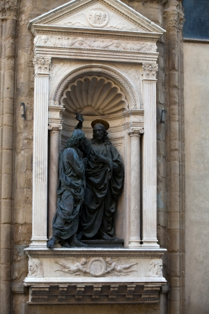 dudando: Florencia - Orsanmichele. Cristo y el incrédulo Tomás 146566 de Verrocchio