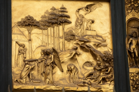 abraham: Florence - Baptistery , Panel of the Door of Paradise - Abraham and Isaac